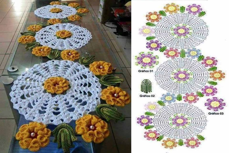 Free Crochet Table Runner Patterns 146 Knitting