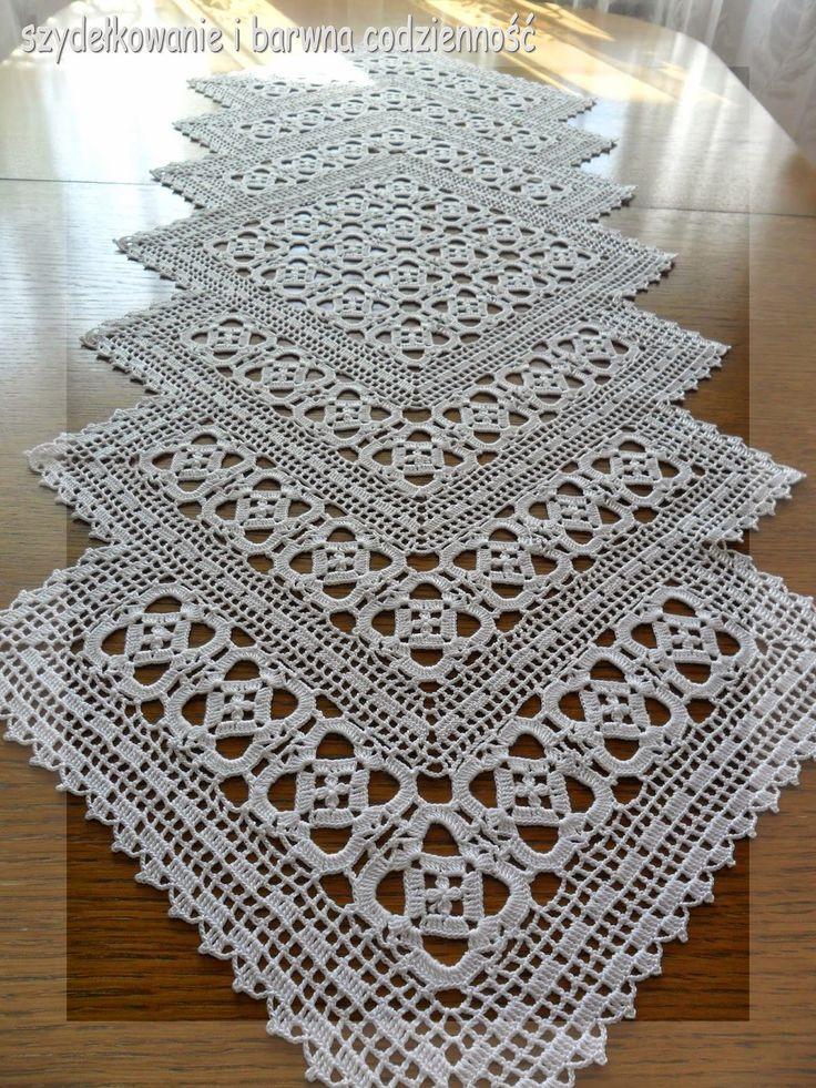 Crochet Table Runner Patterns New 159 Best Crochet Table Runners Images On Pinterest Of Amazing 45 Pics Crochet Table Runner Patterns