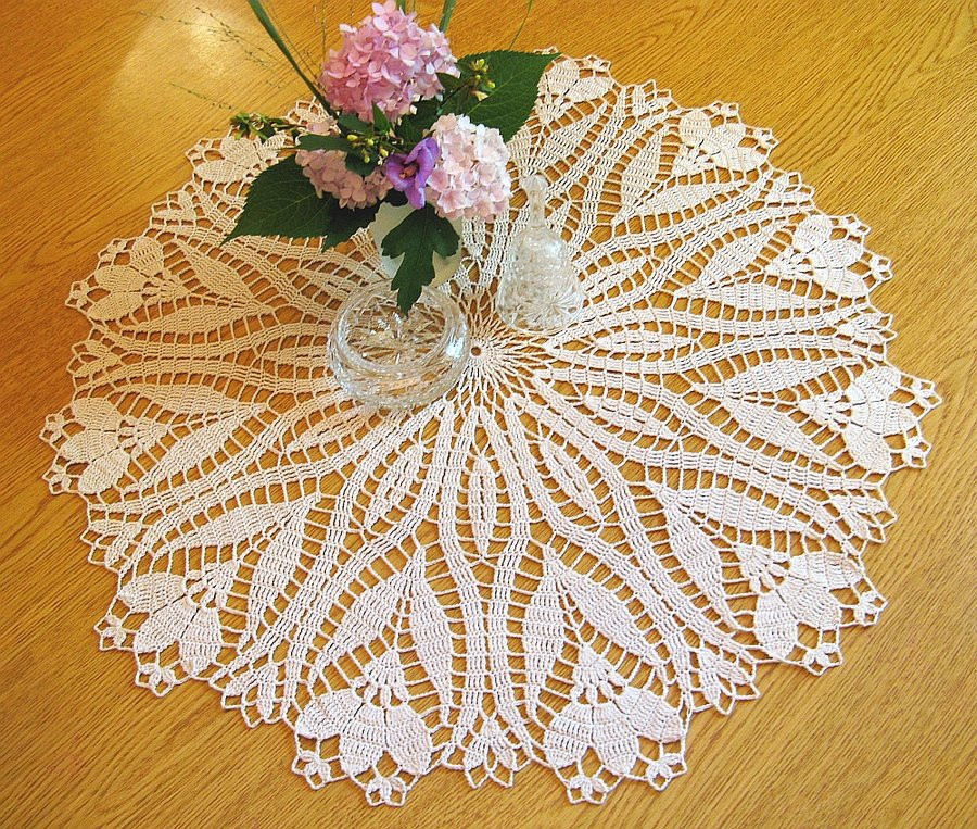 Crochet Table Runner Patterns New Crochet Crocus Pattern Doily Table topper 24 1 2 by Of Amazing 45 Pics Crochet Table Runner Patterns