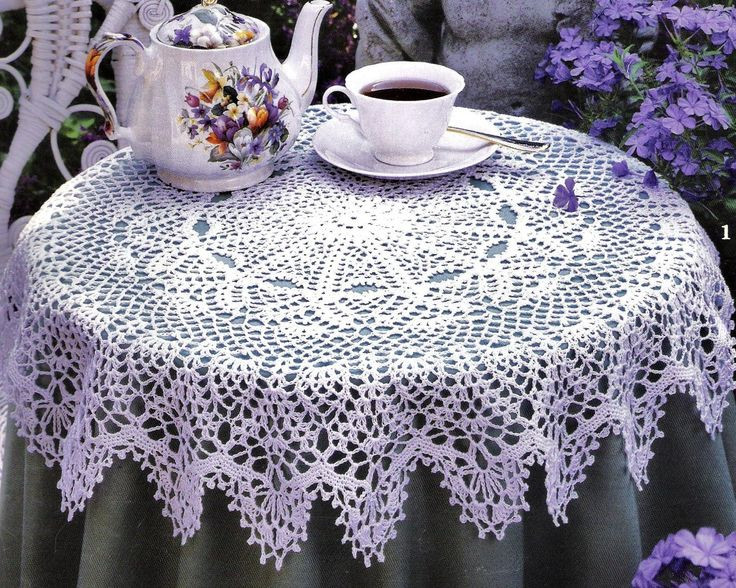 1000 ideas about Crochet Tablecloth Pattern on Pinterest