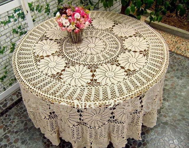 Crochet Tablecloth Awesome Vintage Handmade Crochet Tablecloth Of Perfect 43 Images Crochet Tablecloth