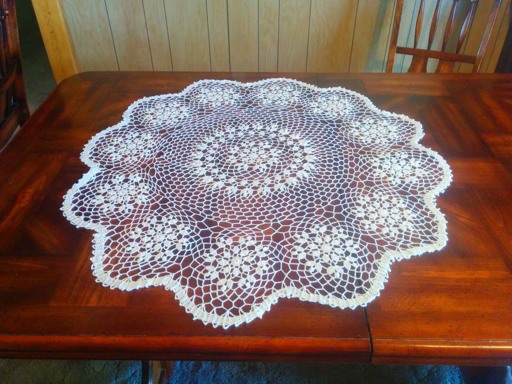 Crochet Tablecloth Lovely Handmade Center Piece Small Round Table Cloth Crochet Of Perfect 43 Images Crochet Tablecloth