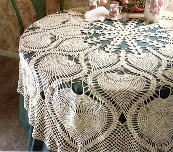 Crochet Tablecloth Pattern Awesome Heirloom Pineapple Tablecloth Crochet Pattern Of Fresh 41 Photos Crochet Tablecloth Pattern