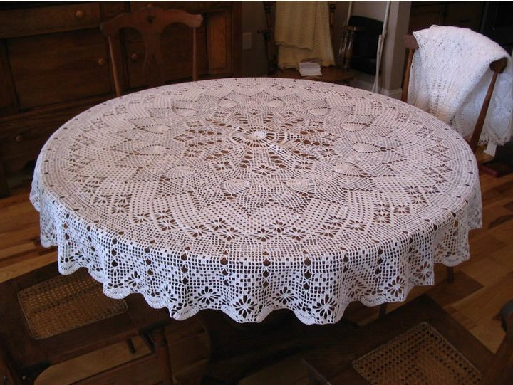Crochet Tablecloth Pattern Awesome Round Tablecloth Tablecloths and Crochet Patterns On Of Fresh 41 Photos Crochet Tablecloth Pattern