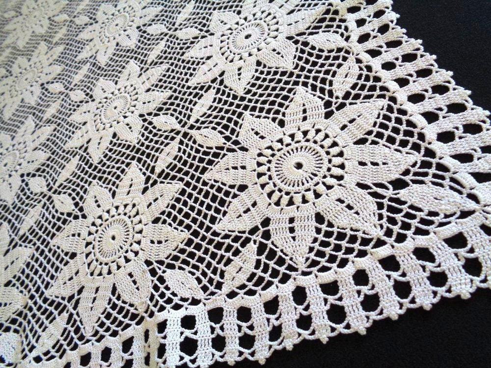 Crochet Tablecloth Unique Lace Crochet White Tablecloth Rectangular Sunflower Of Perfect 43 Images Crochet Tablecloth