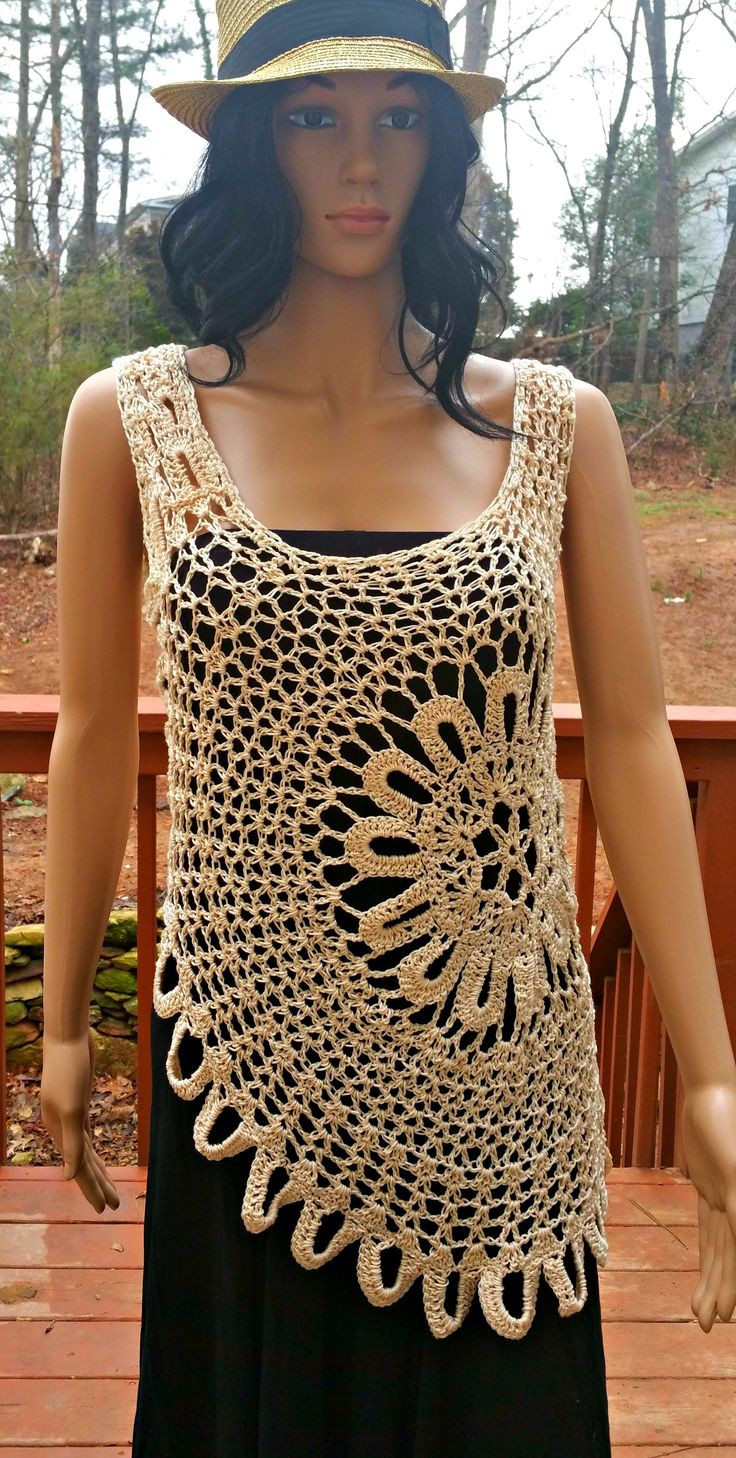 Crochet Tank top Lovely 50 Best Images About Crochet Tank top On Pinterest Of Amazing 43 Pictures Crochet Tank top
