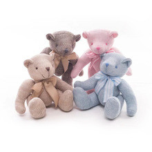 cute creative knitting crochet teddy bear plush baby toys for