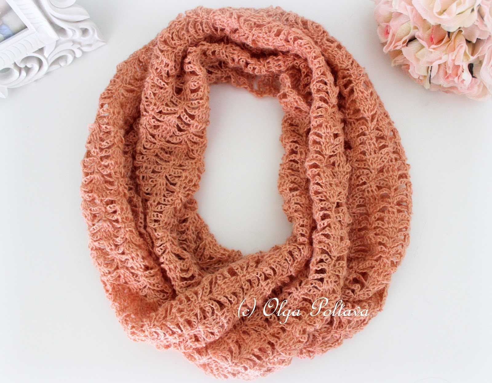 Crochet Thread Patterns Elegant Lacy Crochet Peach Lace Infinity Crochet Scarf Of Superb 47 Pics Crochet Thread Patterns