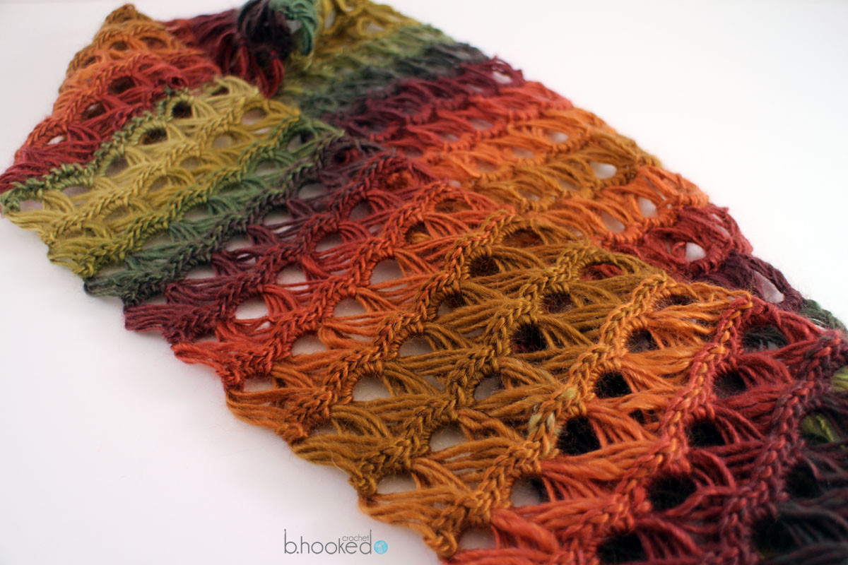 Broomstick Lace Infinity Scarf B hooked Crochet