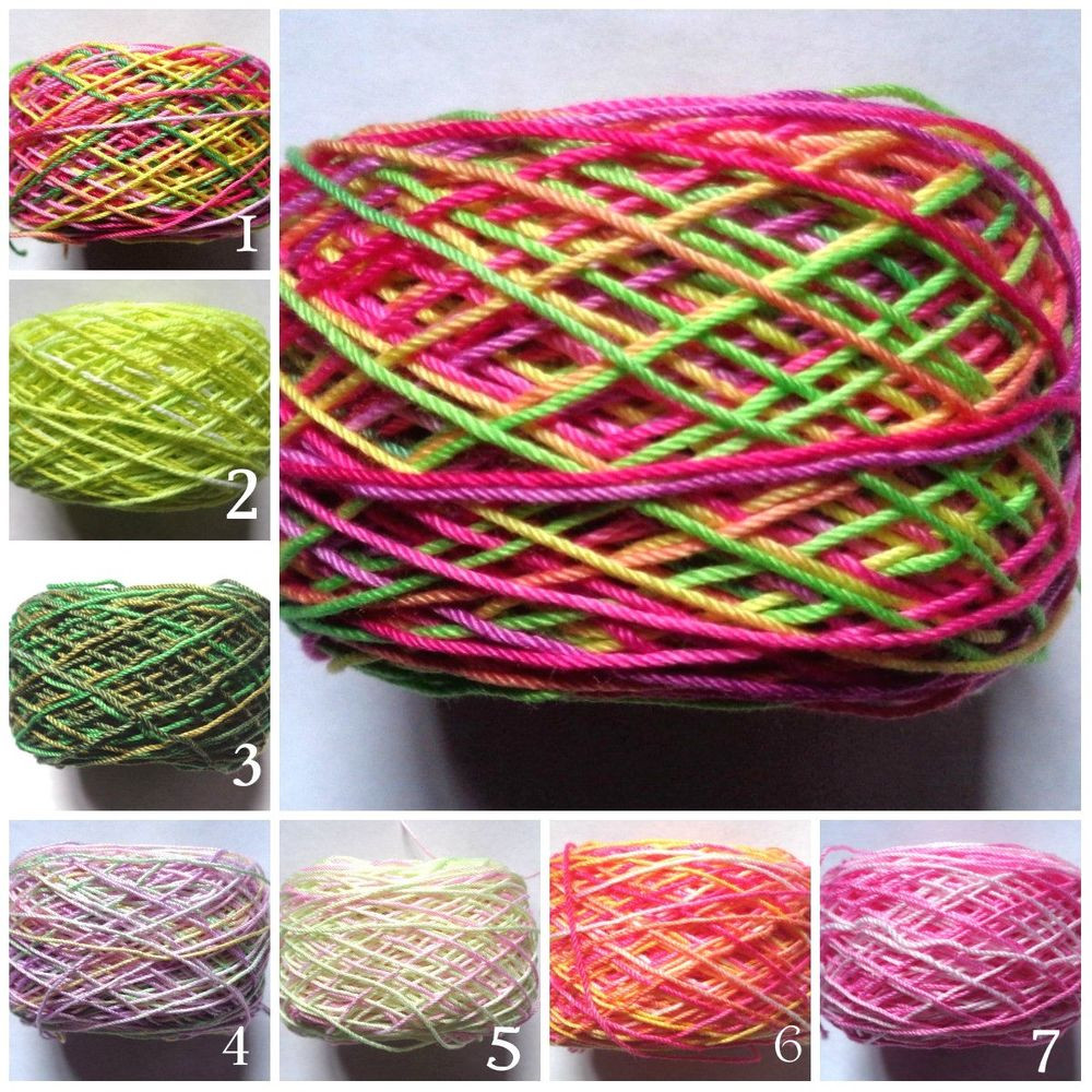 odds and ends 100 yards crochet thread size 10 hand dyed