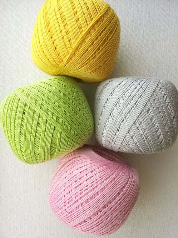 4 x crochet cotton yarn 10 size 10 thread 3 ply cotton
