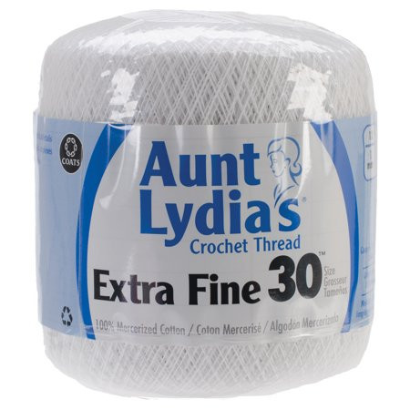 Crochet Thread Size 30 Inspirational Aunt Lydia S Extra Fine Crochet Thread Size 30 White Of Awesome 45 Photos Crochet Thread Size 30