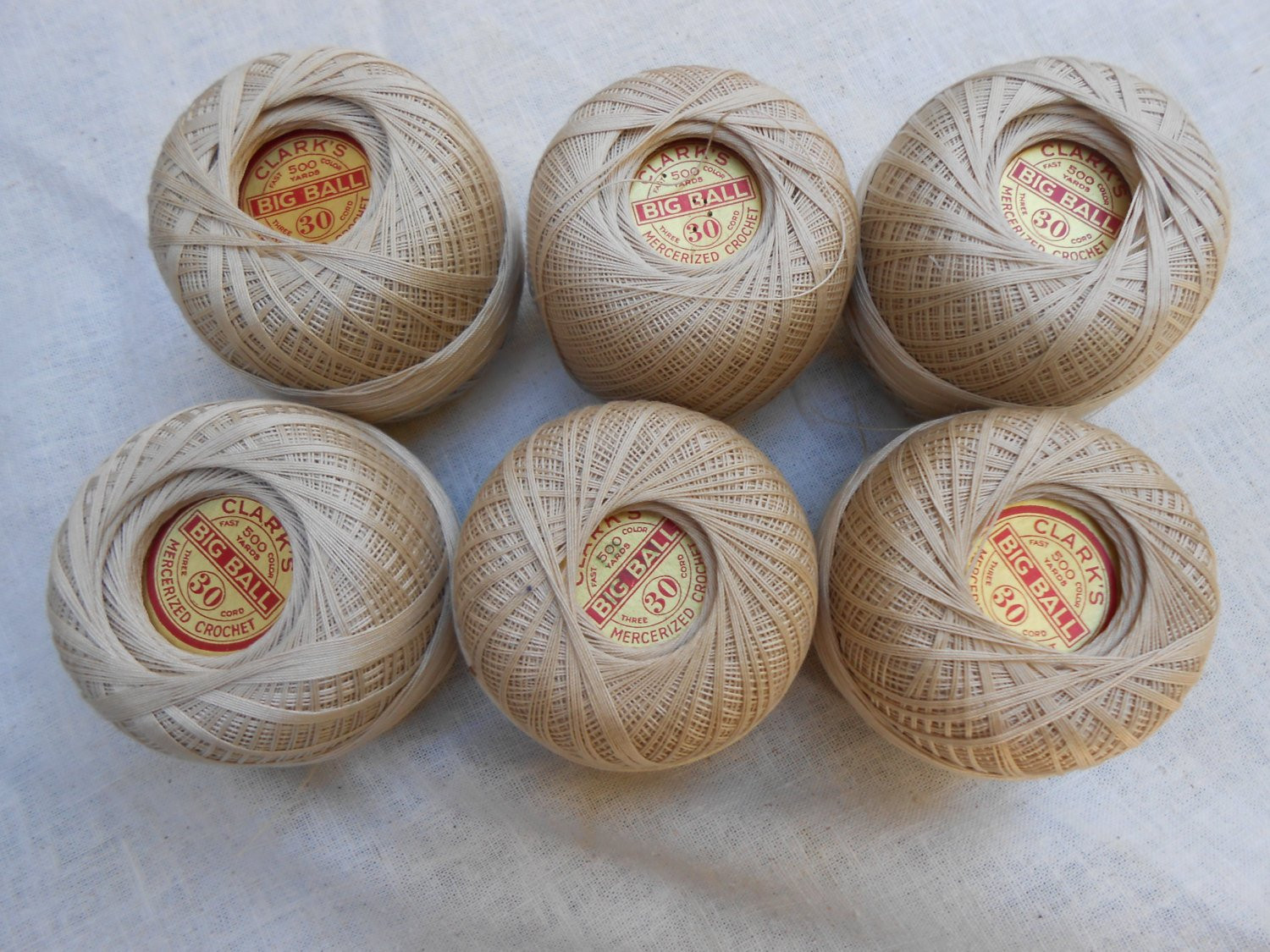 Crochet Thread Size 30 Inspirational Crochet or Tatting Thread Clarks 6 Balls Of 500 Yds Size 30 Of Awesome 45 Photos Crochet Thread Size 30