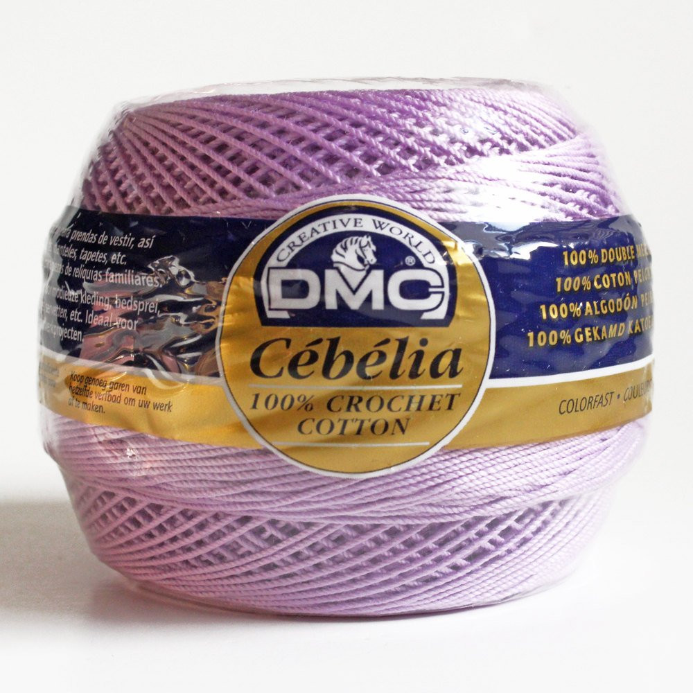 crochet thread dmc cebelia size 10 3 ply