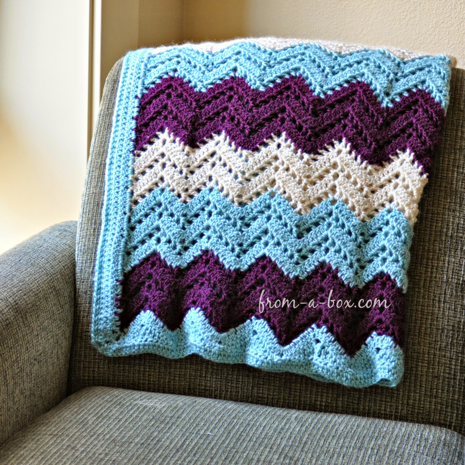 Ripple Afghan Blanket… crochet pattern by Freya Esme