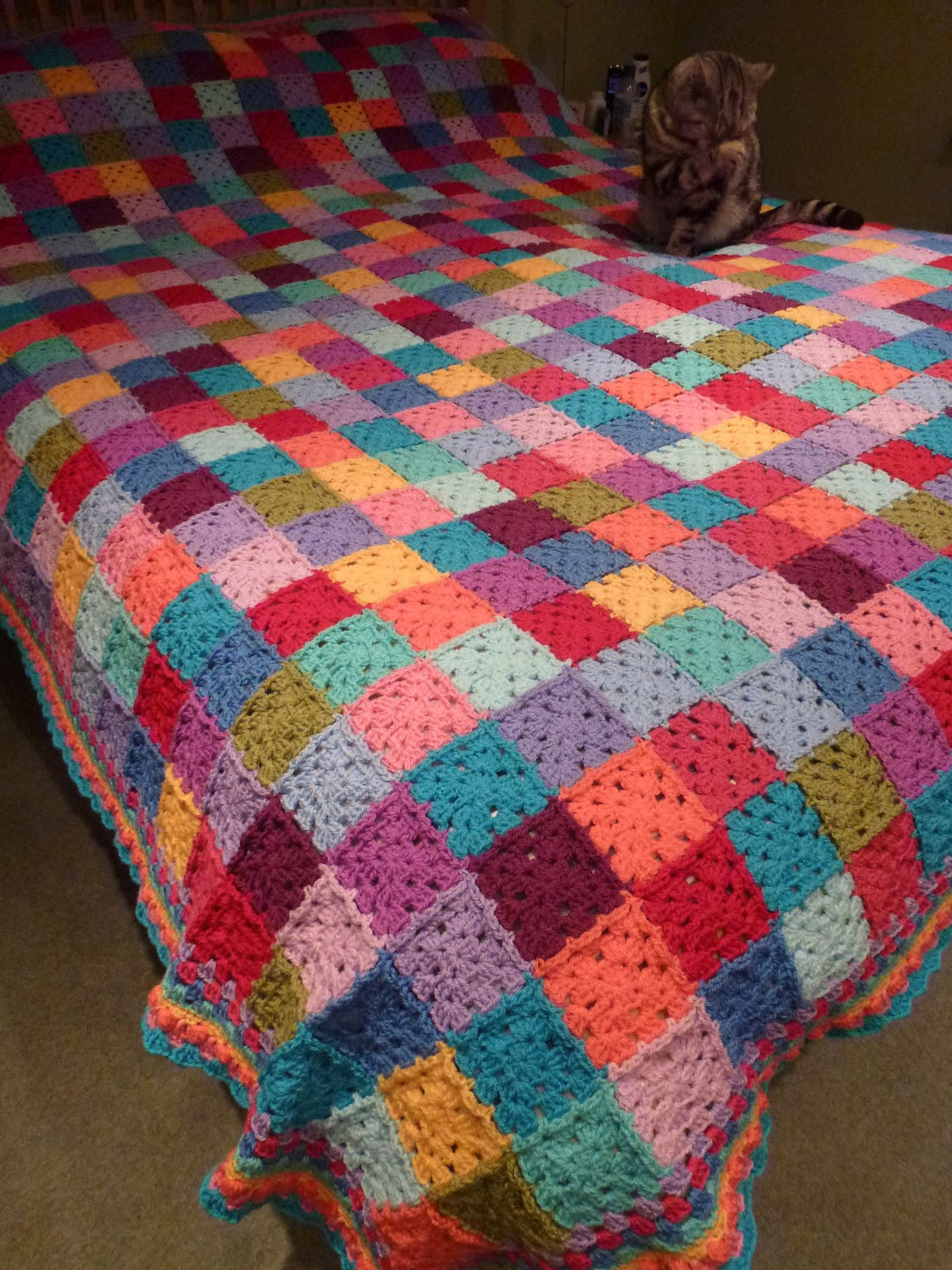 Crochet Throw Blanket Lovely Thrifty Mummyhen Ta Dah Granny Square Patchwork Blanket… Of Great 44 Pics Crochet Throw Blanket