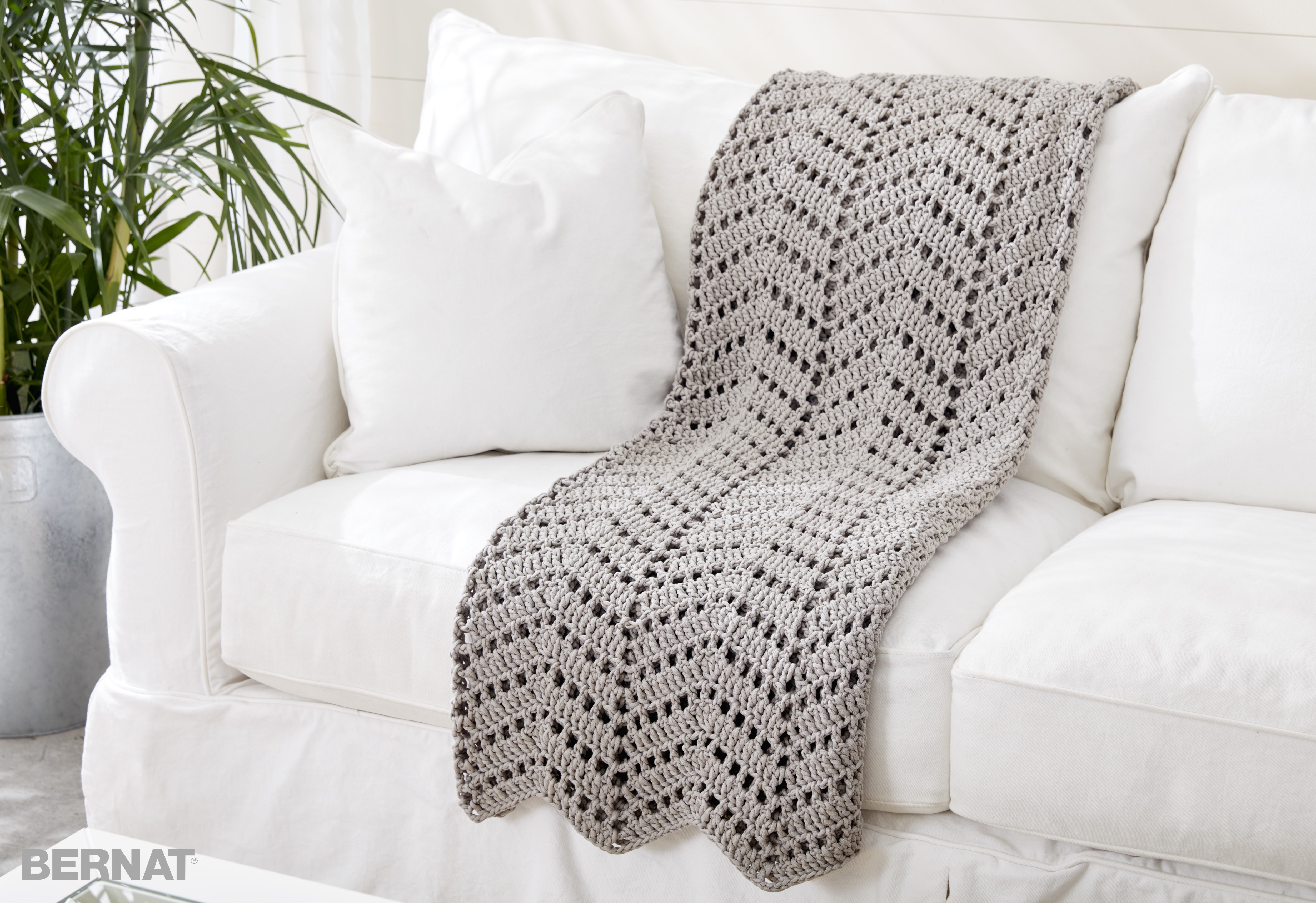 Bernat Ripples In The Sand Crochet Afghan Crochet Pattern