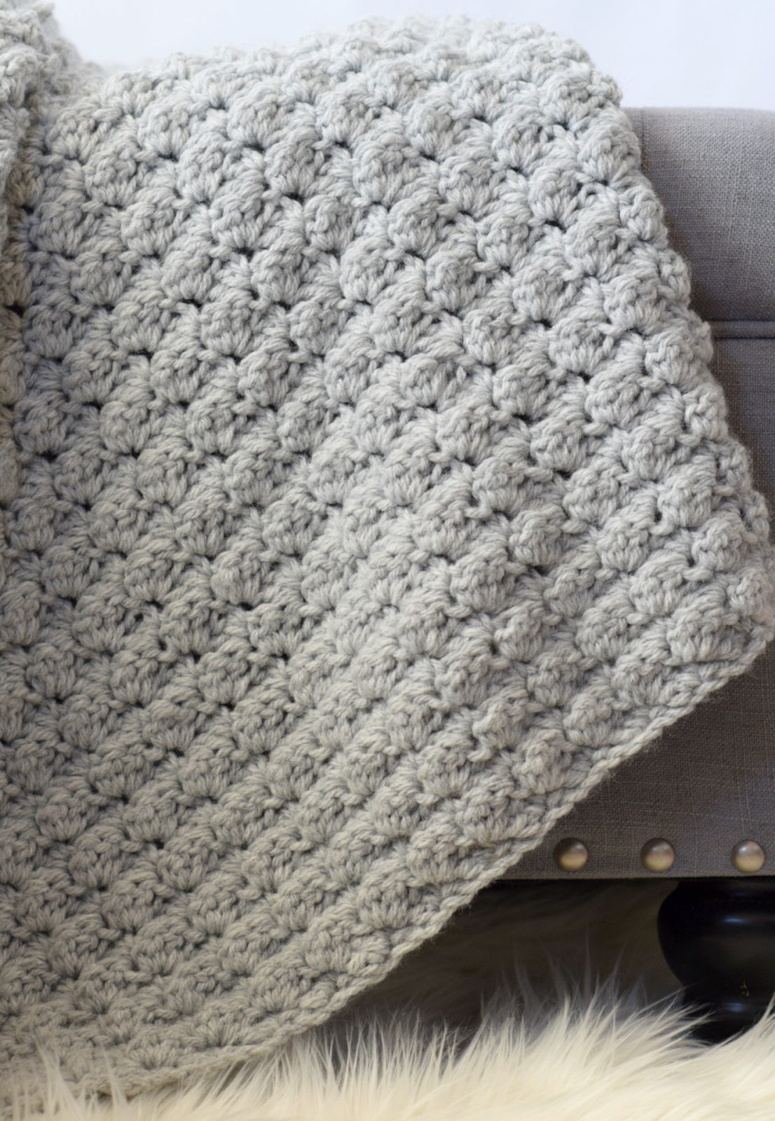 Crochet Throw Patterns Luxury Simple Crocheted Blanket Go to Pattern – Mama In A Stitch Of Brilliant 40 Photos Crochet Throw Patterns