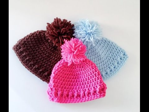 simple and Easy Crochet Baby Hat Beanie