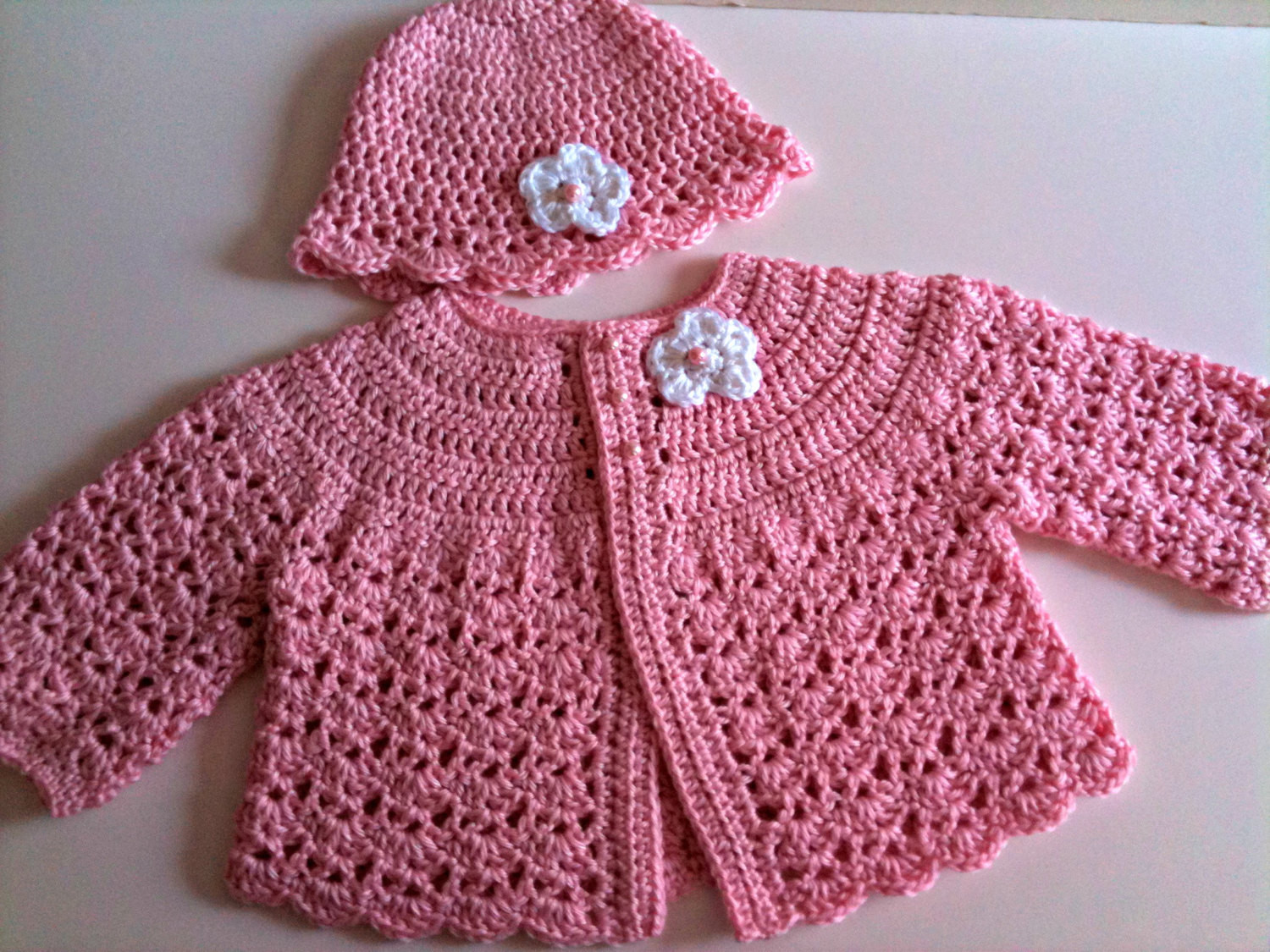 Crochet toddler Sweaters Best Of Crochet Baby Sweater Hat Set Pale Pink Of Attractive 46 Pictures Crochet toddler Sweaters