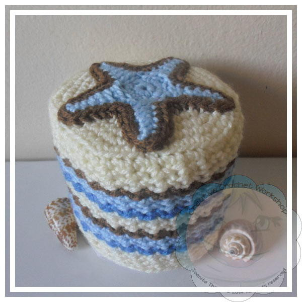Starfish Crochet Toilet Paper Roll Cover 600 ID