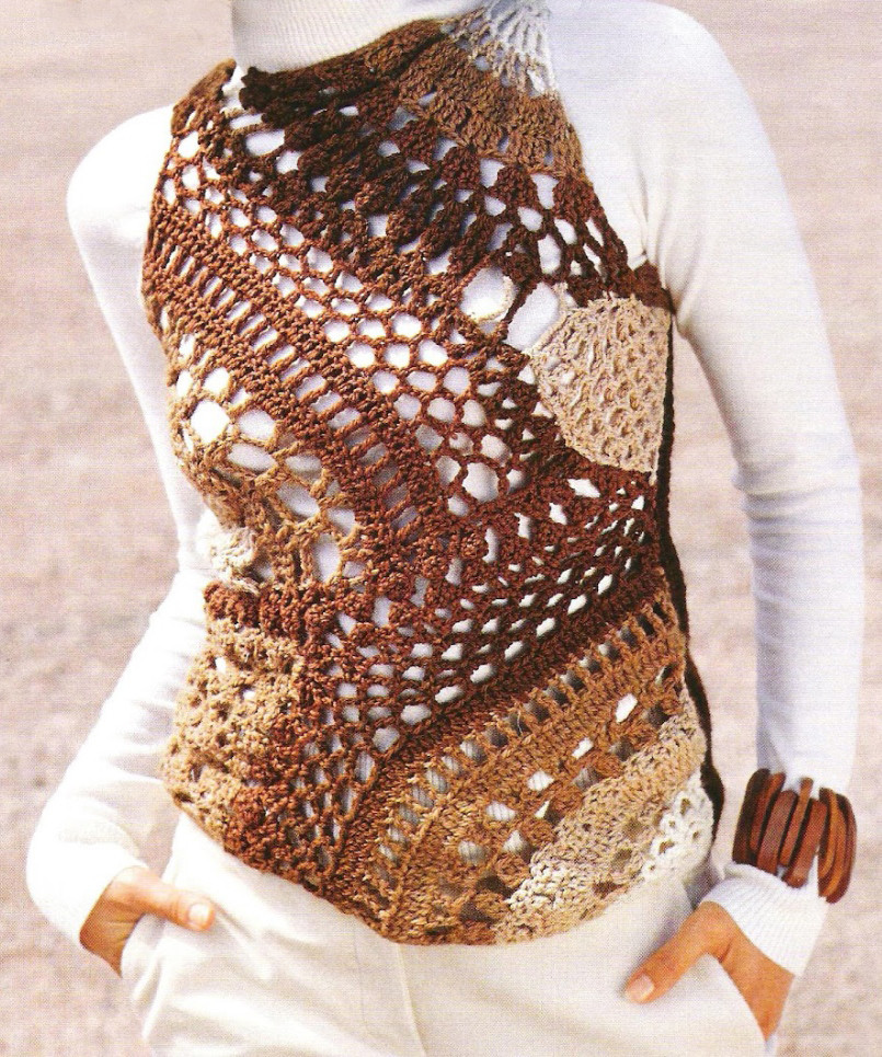 Crochet top PATTERN boho crochet tunic pattern patchwork