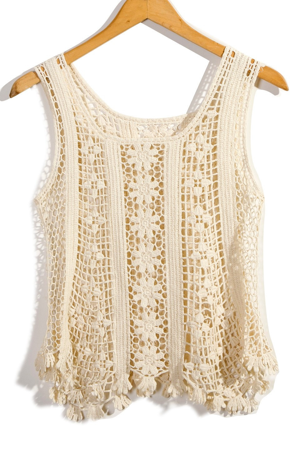 Crochet top Awesome F White Sleeveless top Ivory Floral Sleeveless Crochet Of Delightful 48 Pics Crochet top