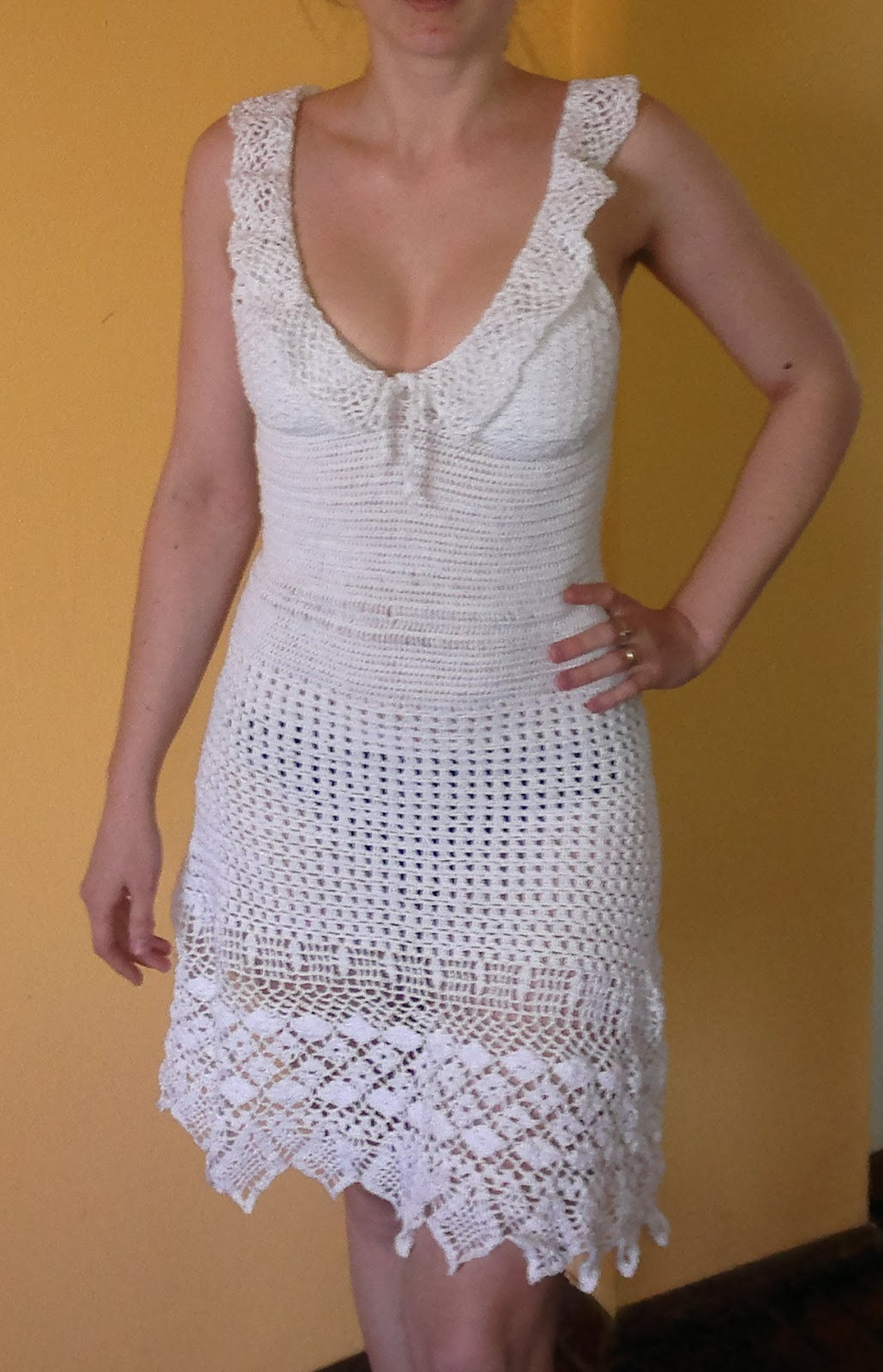 Crochet top Dress Beautiful White Crocheted Summer Dress as Seen On Jennifer Aniston Of Incredible 41 Models Crochet top Dress