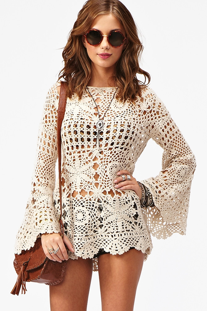 Crochet top Dress Best Of White Crochet Tunic Of Incredible 41 Models Crochet top Dress