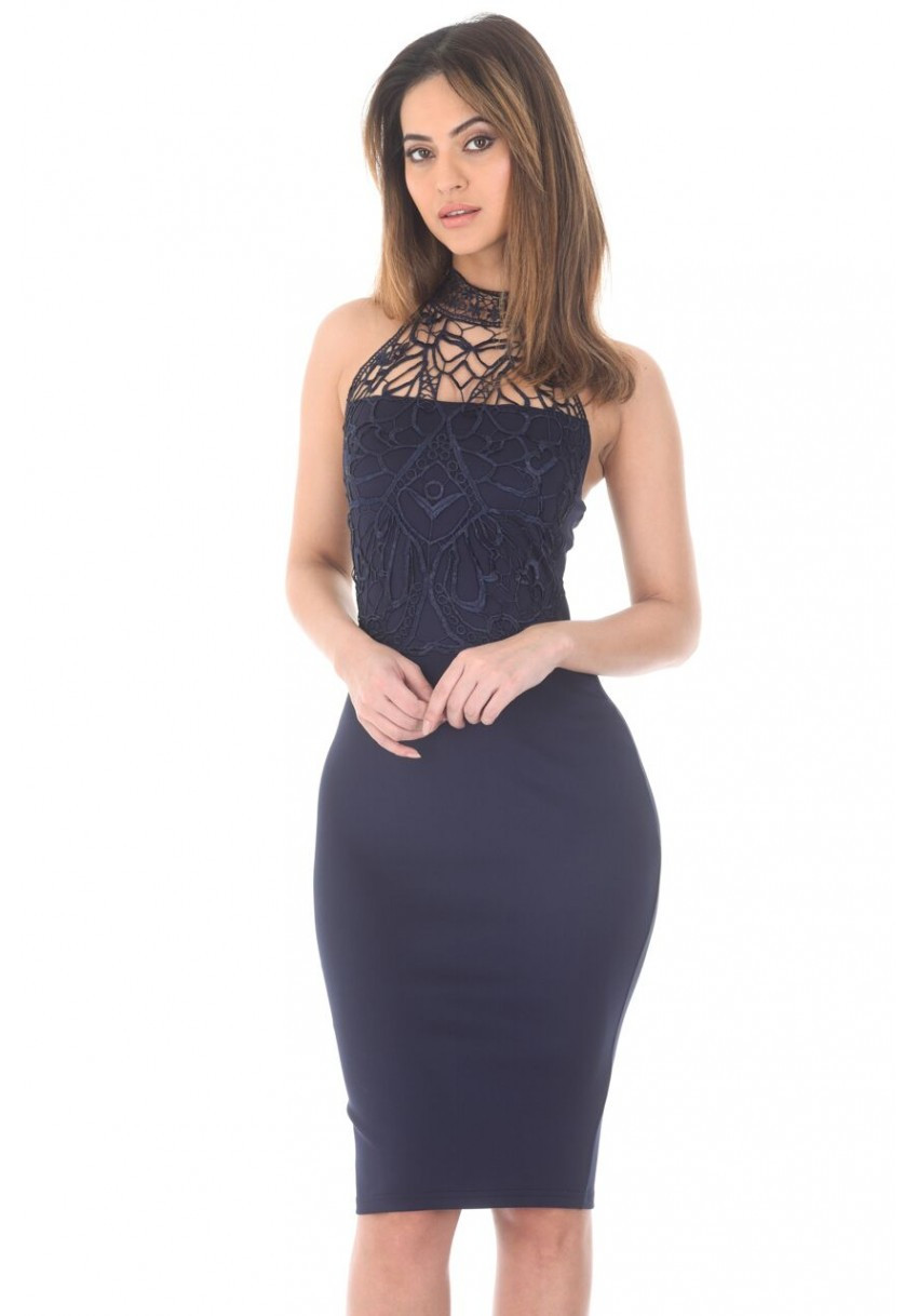 Crochet top Dress Elegant Women S Navy Crochet top Bodycon Midi Dress Ax Paris Usa Of Incredible 41 Models Crochet top Dress