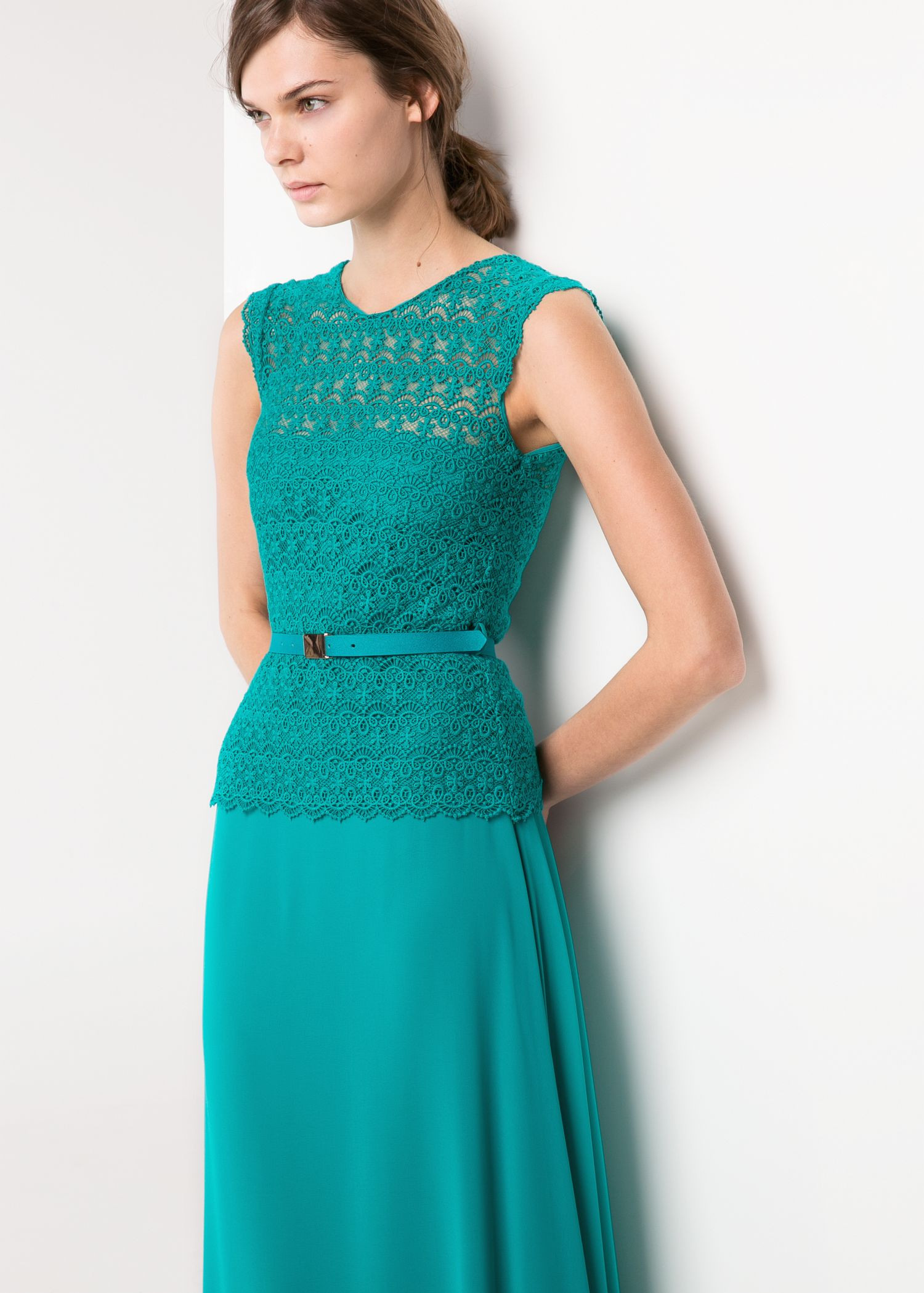 Crochet top Dress Fresh Mango Crochet top Long Dress In Green Turquoise Of Incredible 41 Models Crochet top Dress