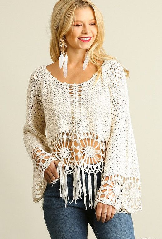 Crochet top Elegant Knit Crochet top with Fringe Hemline Natural Of Delightful 48 Pics Crochet top