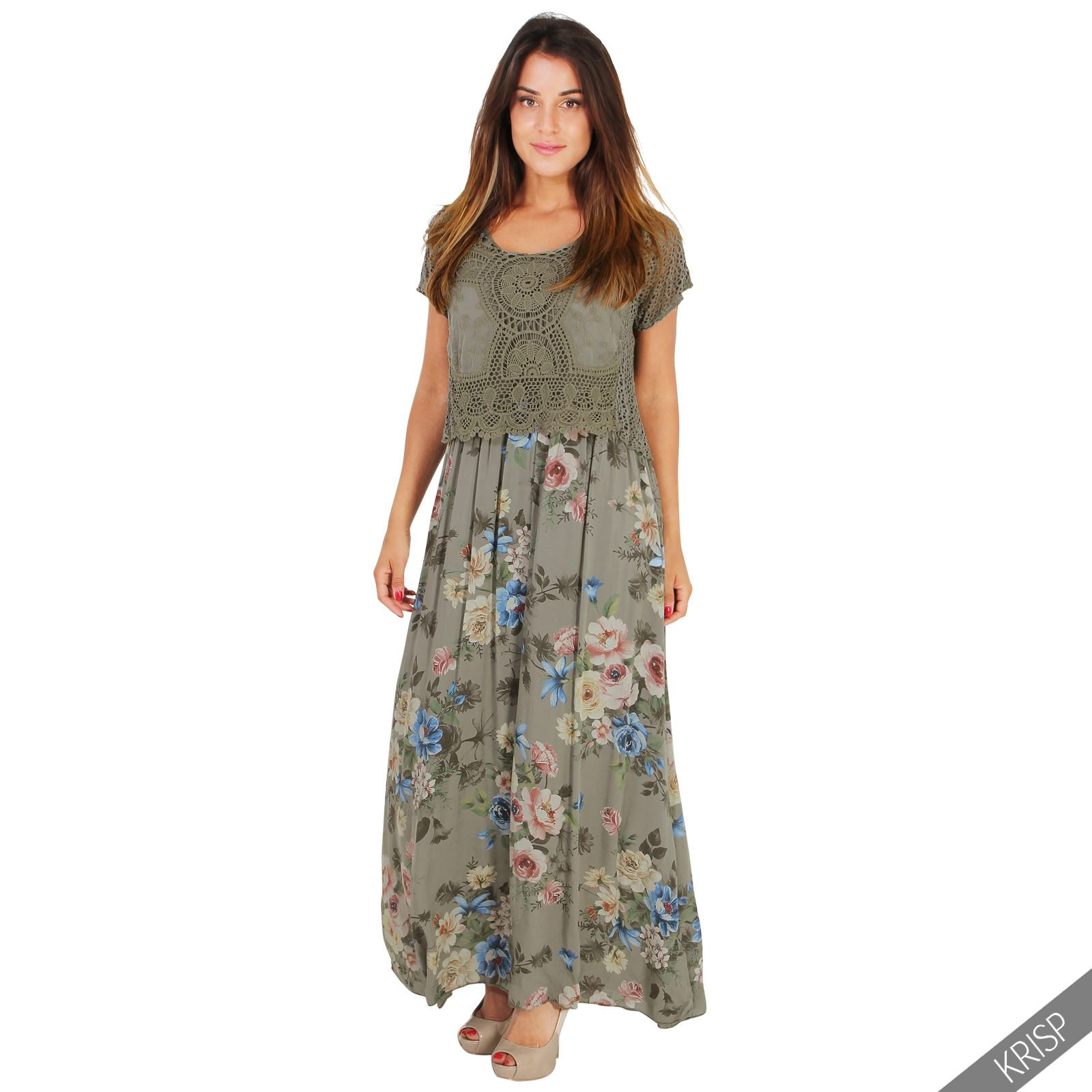 Crochet top Maxi Dress Lovely Womens La S Crochet Lace Sleeveless top Floral Maxi Of Superb 43 Models Crochet top Maxi Dress
