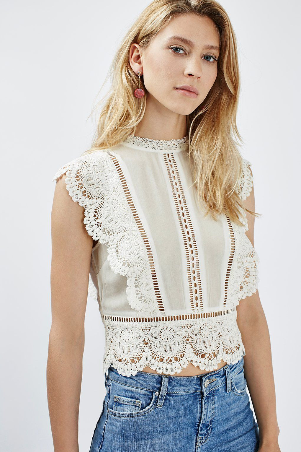 Crochet top Unique Sleeveless Crochet Blouse tops Clothing topshop Of Delightful 48 Pics Crochet top