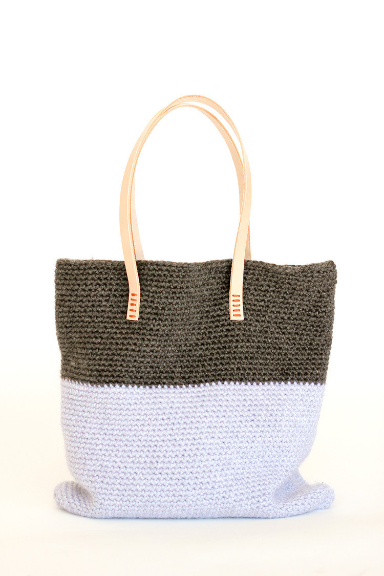Crochet Leather Basic Tote – Free Pattern