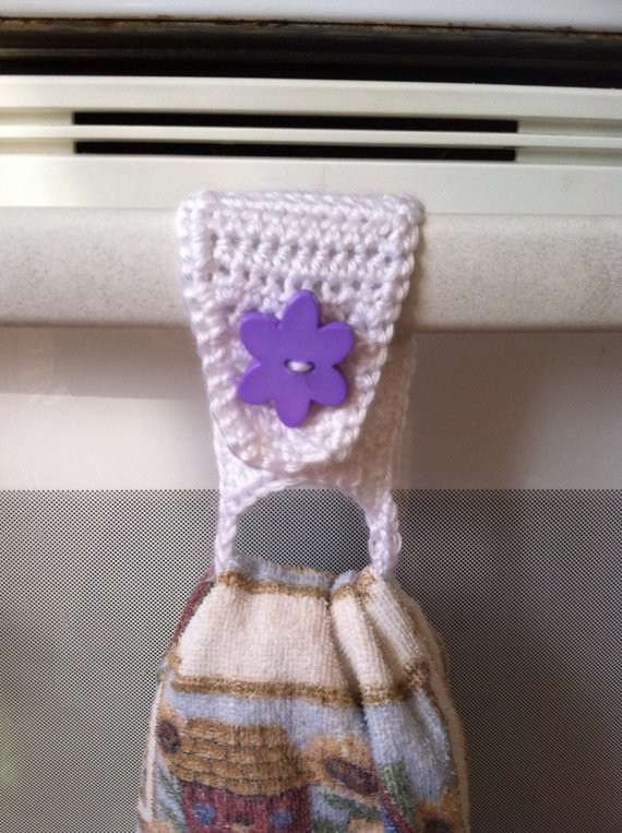 Crochet Towel Holder Towel Ring Towel Topper Kitchen
