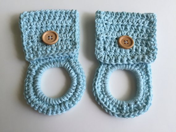 Crochet towel Ring Best Of Kitchen towel Holder Set Of 2 Blue Crochet towel Hanger Of Gorgeous 46 Photos Crochet towel Ring