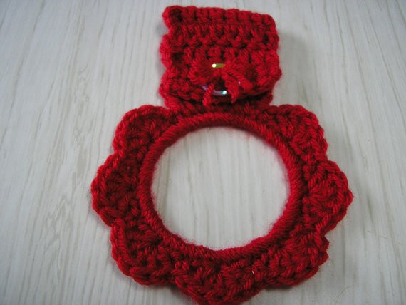 Crochet towel Ring Inspirational towel Holder Crocheted Ring Red Of Gorgeous 46 Photos Crochet towel Ring