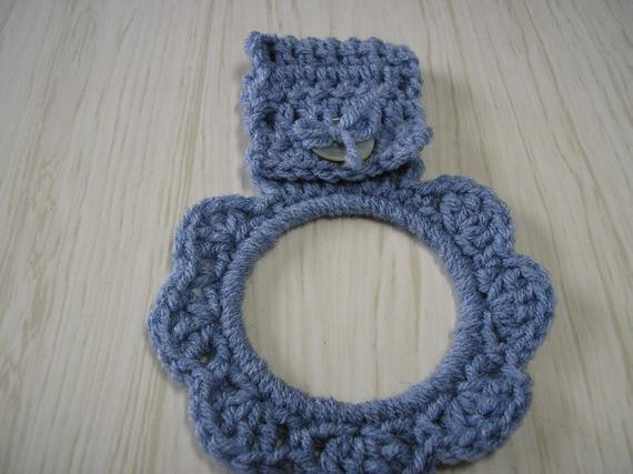 Crochet towel Ring New towel Holder Crocheted Ring Light Blue Of Gorgeous 46 Photos Crochet towel Ring