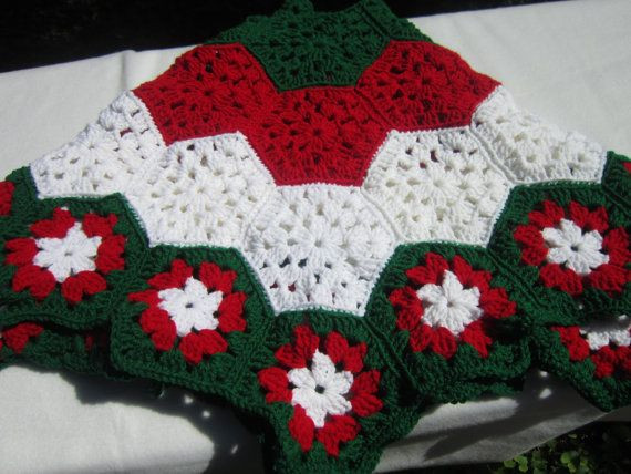 Crochet Tree Skirt Pattern Beautiful Christmas Tree Skirt In Red White and Green Traditional Of Beautiful 50 Ideas Crochet Tree Skirt Pattern