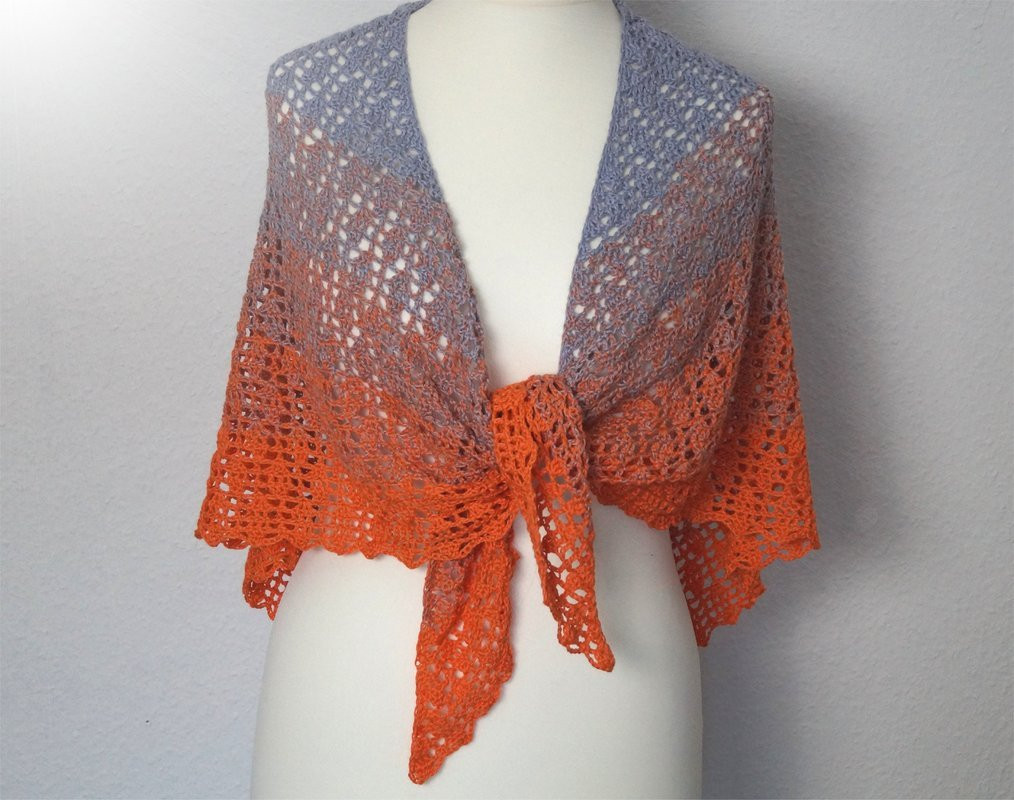 "Crochet Triangle Shawl Best Of Crochet Pattern ""zauberland"" Magic Land Faroese Shaped Of Brilliant 46 Pictures Crochet Triangle Shawl"