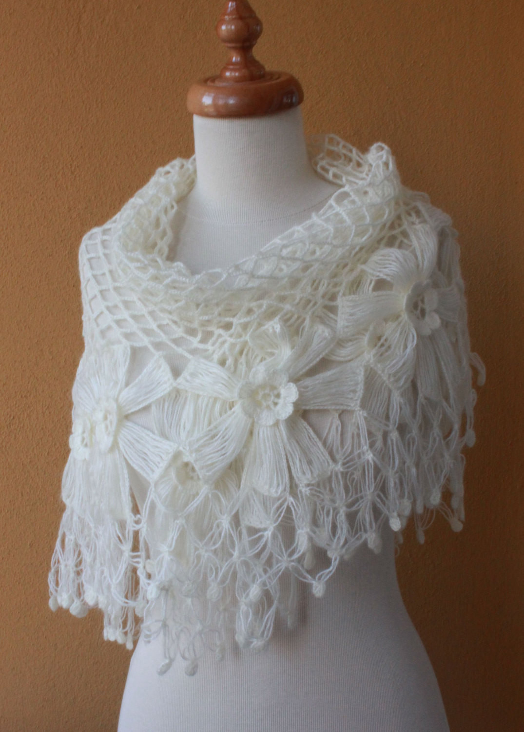 Crochet Triangle Shawl Fresh Shawl Wedding Ivory Shawl Crochet Shawl Triangle Flower Of Brilliant 46 Pictures Crochet Triangle Shawl