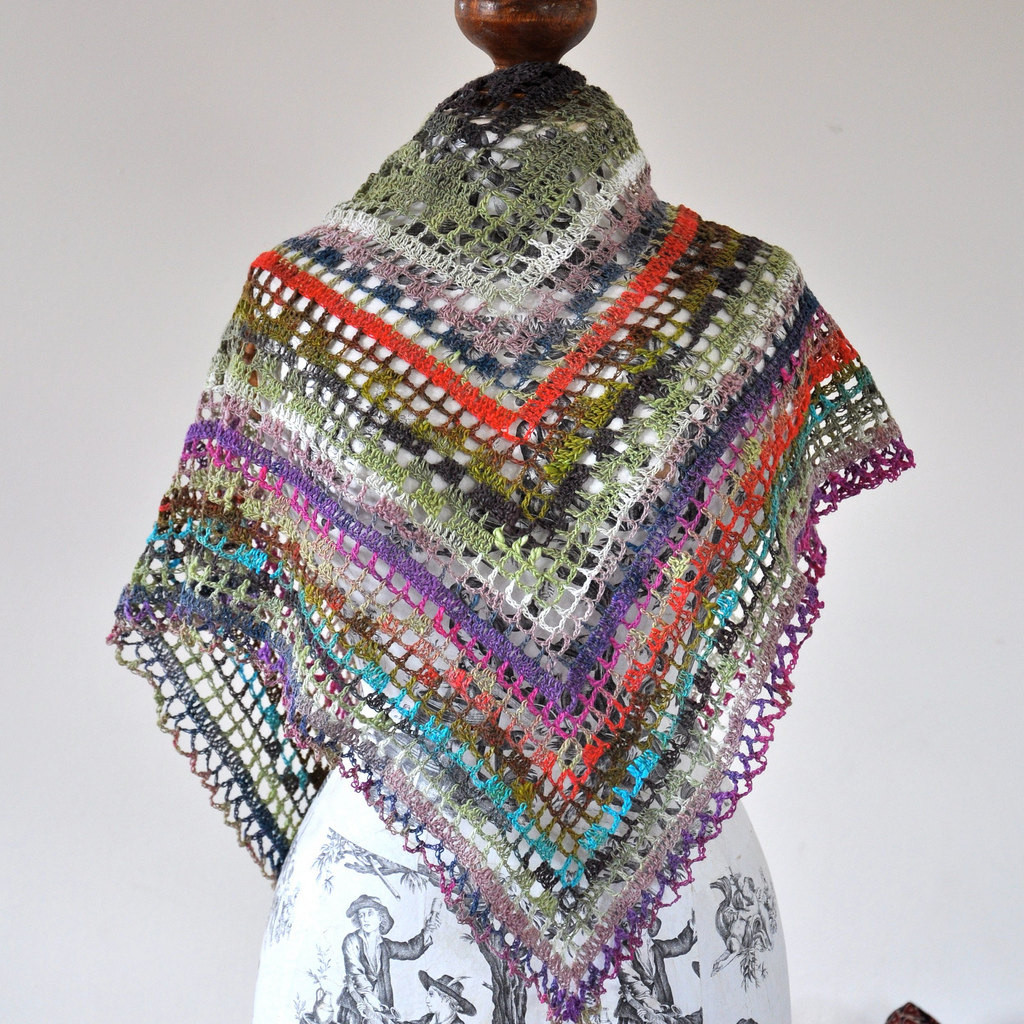 Crochet Triangle Shawl Inspirational Triangular Gypsy Crochet Shawl On Luulla Of Brilliant 46 Pictures Crochet Triangle Shawl