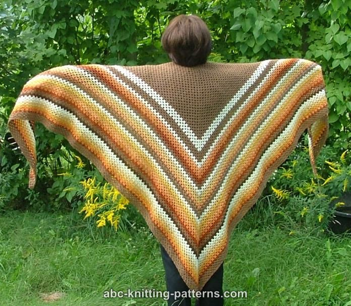 Crochet Triangle Shawl Lovely Abc Knitting Patterns Autumnal Triangle Shawl Of Brilliant 46 Pictures Crochet Triangle Shawl