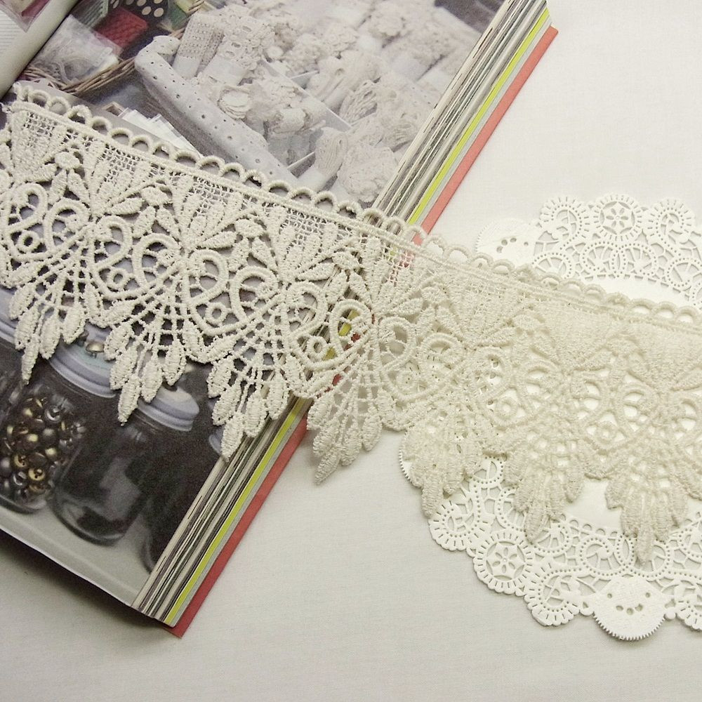 Crochet Trimming Best Of 1yard Antique Style Scalloped Embroidery Cotton Crochet Of Charming 50 Pics Crochet Trimming