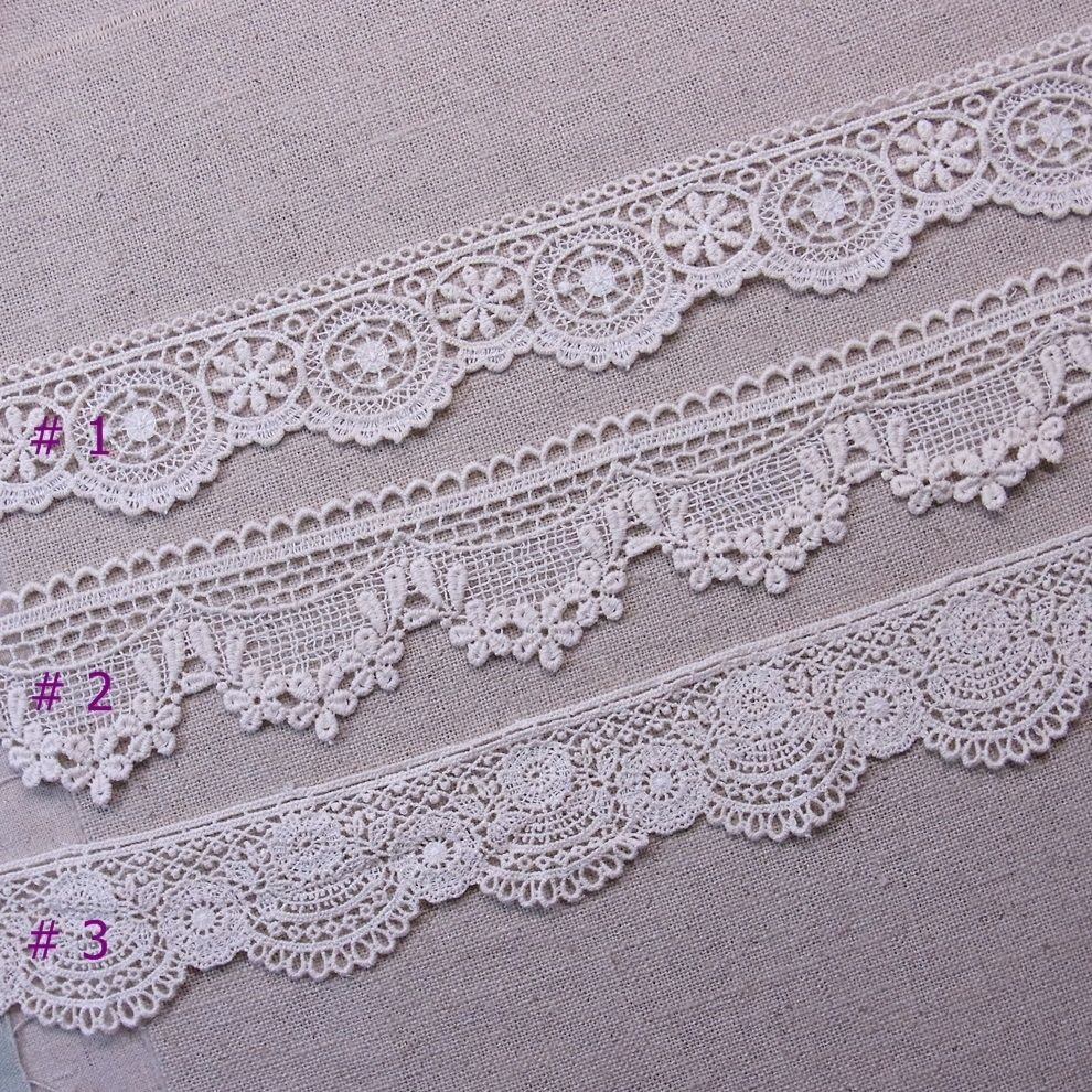 Crochet Trimming Lovely Antique Style Scalloped Embroidered Cotton Crochet Lace Of Charming 50 Pics Crochet Trimming