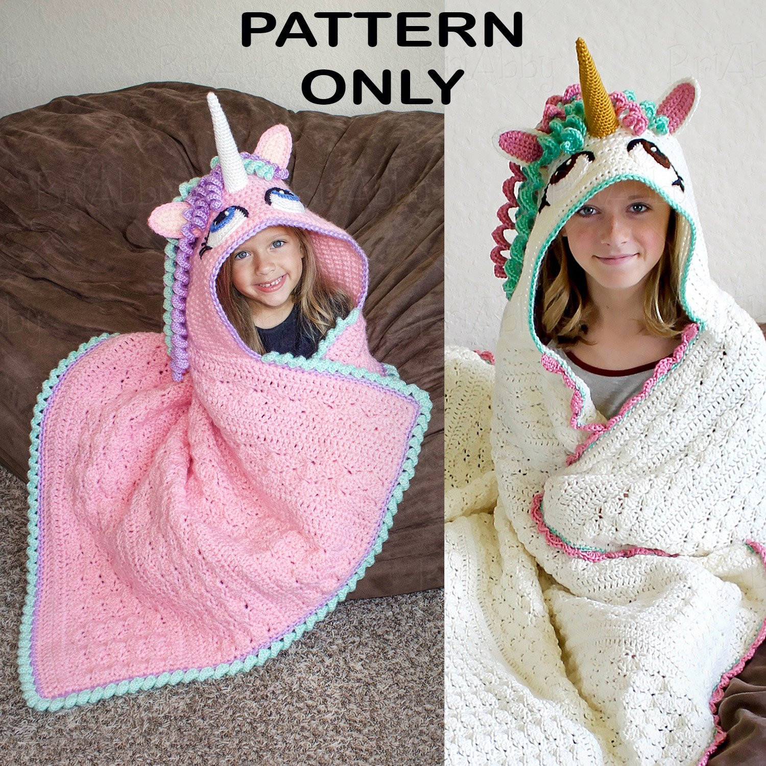 Crochet Unicorn Blanket Fresh Crochet Pattern Hooded Unicorn Blanket Pattern Pdf File Of Charming 44 Ideas Crochet Unicorn Blanket