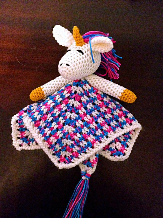 Crochet Unicorn Blanket New Crochet Lovey Unicorn Crochet Lovie Unicorn by Of Charming 44 Ideas Crochet Unicorn Blanket