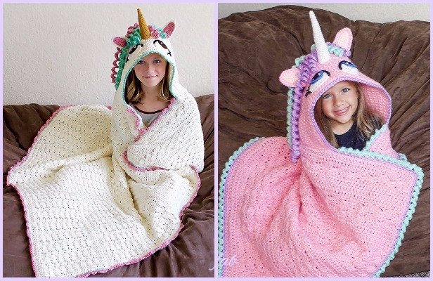 Crochet Unicorn Blanket Unique Crochet Hooded Unicorn Blanket Pattern Of Charming 44 Ideas Crochet Unicorn Blanket