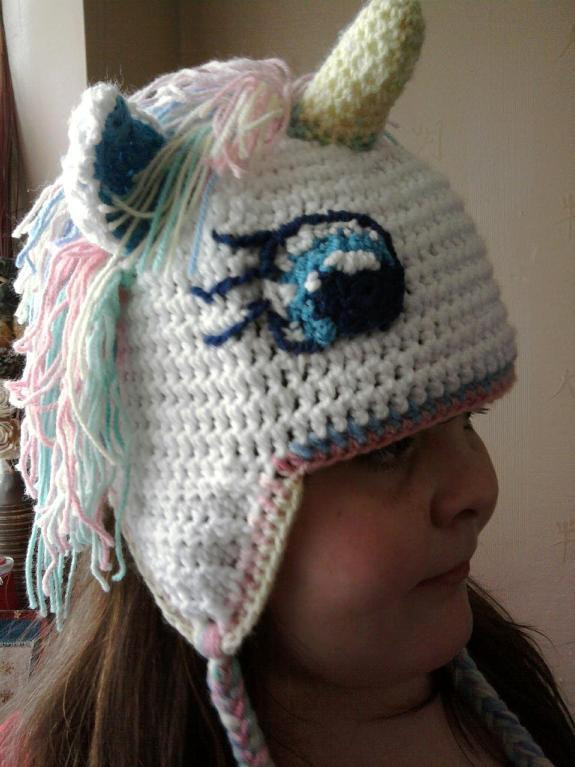 You have to see crochet unicorn hat on Craftsy